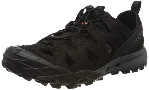 Merrell Choprock Leather Shandal, Zapatillas Impermeables para Hombre, Negro (Black), 42 EU