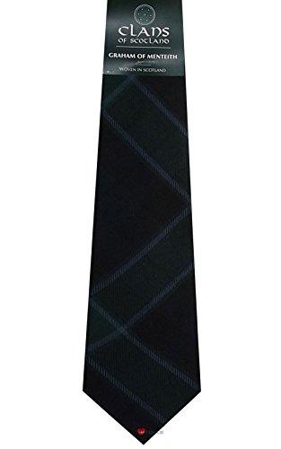 I Luv Ltd Graham of Menteith Clan 100% Wool Scottish Tartan Tie