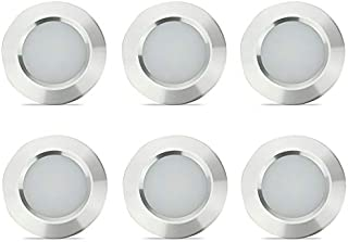 12V Recessed Light for RV Camper Van Trailer - 3W Warm White 270 Lumen Low Voltage (6 Pack)