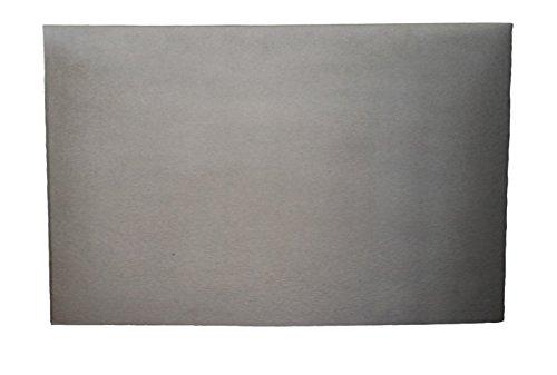 Lunaway Gladde schoorsteenplaat voor open haard van gietijzer, afmetingen: 70 x 40 cm, dikte: 1 cm