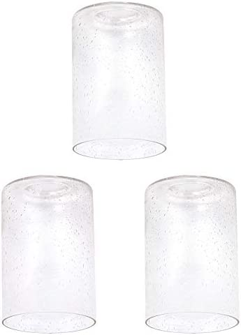 LHLYCLX 3 Pack Cylinder Glass Lamp Shade Bubble Seeded Clear Glass Cover Replacements for Lighting product image
