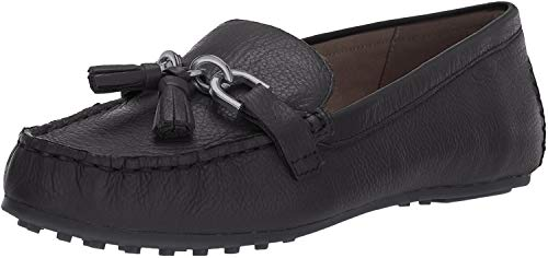 Aerosoles Women's Soft Drive Loafer, Black Leather, 9 M US