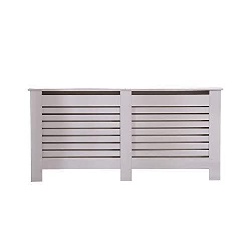 Kingwudo® Wooden High Gloss Radiator Cover Modern Decorative Cabinet S/M/L/XL Black/Brown (Grey, X-L—172X19X82CM)