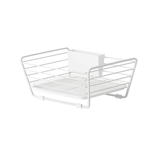 Support pour égouttoir à vaisselle Craft Anti-rouille Couvercle pour égouttoir en métal enduit de plastique anti-rouille, blanc