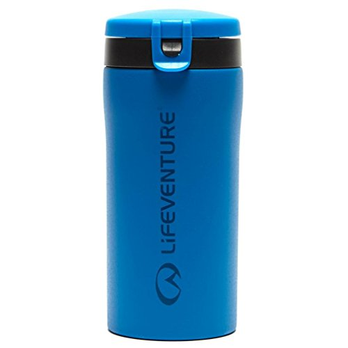 Lifeventure 76121 Flip-Top Thermal Mug, 300ml, Blue Unisex-Adult
