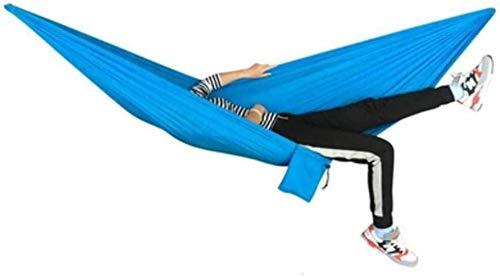 LAMTON Extérieur Double Camping hamac, Simple et Double Tissu Parachute Hamacs extérieur/GardenLeisure lit de Camping balançoire Portable Plage Arbre Suspendu hamac