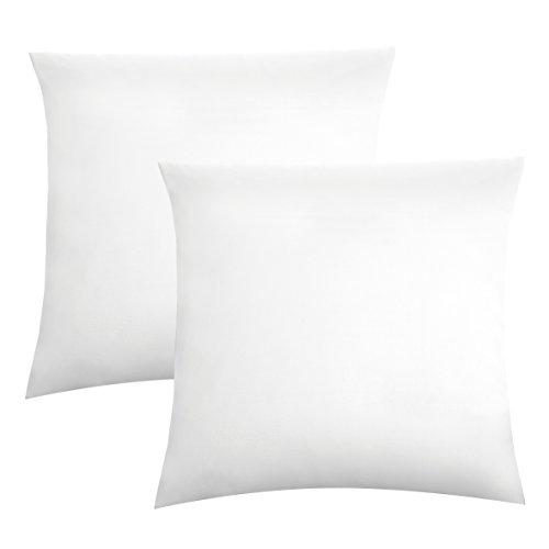 biberna 0077144 Kopfkissenbezug Feinjersey, gekämmte Baumwolle, superweich 2x 40x40 cm weiß