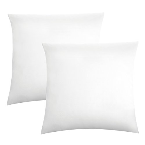 biberna 0077144 Feinjersey Bettwäsche Kopfkissenbezug (Baumwolle) 2x 40x40 cm, weiß