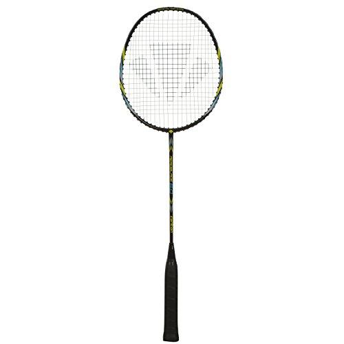 Dunlop Badmintonschläger Carlton Aeroblade 6.0, Schwarz/Gelb/Blau, One size