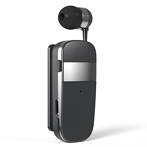 Wear Clip Mini Auricular inalámbrico Llamada recordatorio vibración Auricular Compatible con Bluetooth para Conductor Deportivo