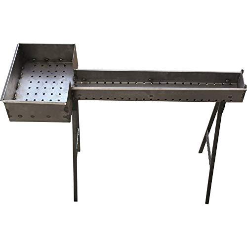 PROPOSTEONLINE Barbecue Fornacella Grande Canalina da 120 cm per Cottura spiedini e arrosticini