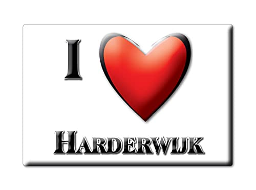 HARDERWIJK (M) FRIDGE MAGNET NETHERLANDS GELDERLAND SOUVENIR I LOVE GIFT PRESENT