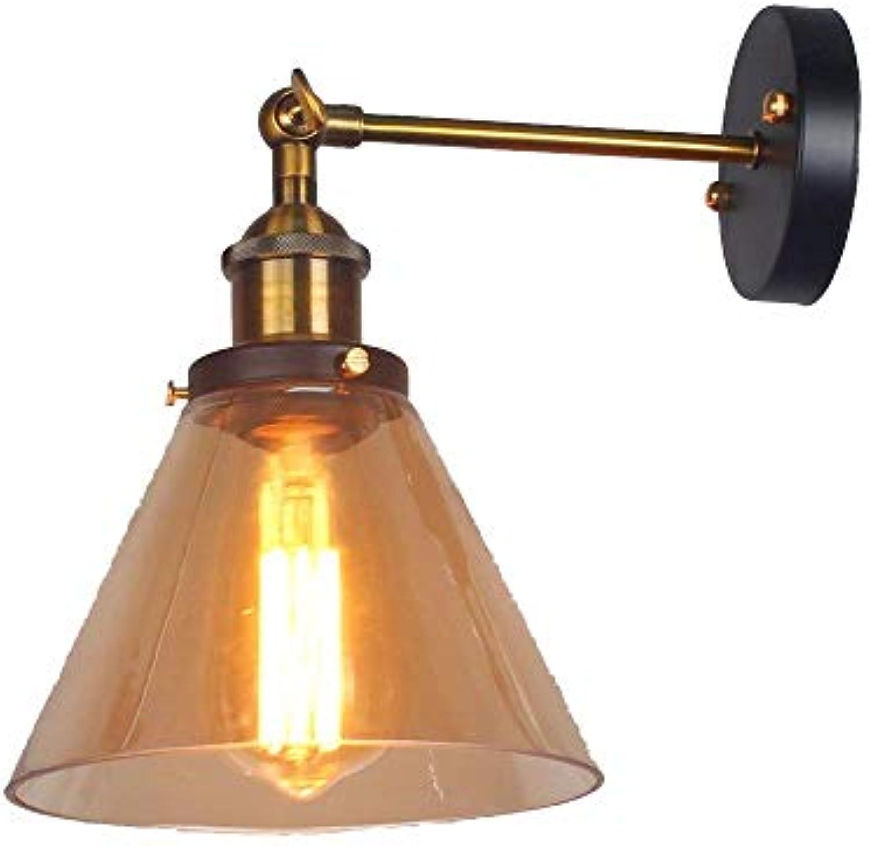 AWOPH Schmiedeeisen aus Bronze, BernsteinWohnzimmer-Schlafzimmerrestaurant-Café-Hallenhotel der modernen Wandleuchte der Art LED Wandleuchte Wandlampe