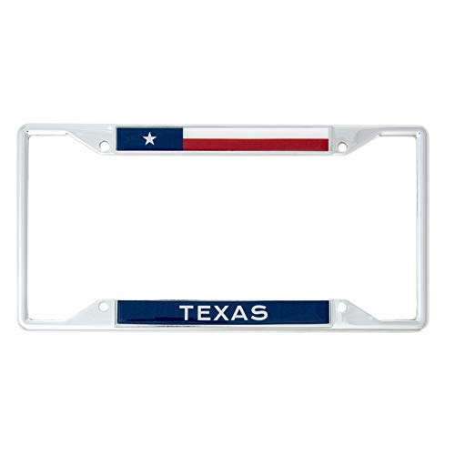 Desert Cactus State of Texas Flag License Plate Frame for Front Back of Car Vehicle Truck Texan