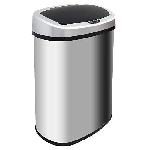 WEIMALL 大容量 ゴミ箱 ダストボックス センサー 自動開閉式 48L ふた付き ペダルいらず 全自動開閉 45リットル ゴミ袋 対応