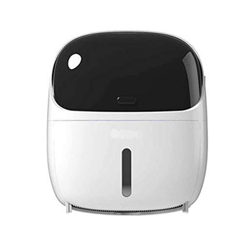 Yiran Toilettenpapierhalter ohne Bohren Selbstklebend WC Rollenhalter mit Schublade und Telefonständer Rollenpapier/Papier zeichnen Doppelzweck Klopapierhalter (Color : White)