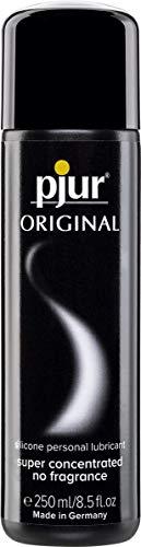 pjur ORIGINAL - Lubricante de silicona Premium - lubricación duradera sin pegarse - cunde mucho y es adecuado para preservativos (250ml)