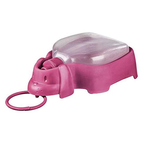 Sanremo Plastic Portable Dog Drinker for Dogs, Pink