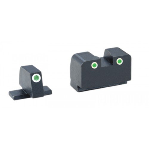 AmeriGlo SIG SAUER Classic Tritium 3-Dot Night Sight Set for Most Sig Sauer Models, Green Tritium Front and Rear
