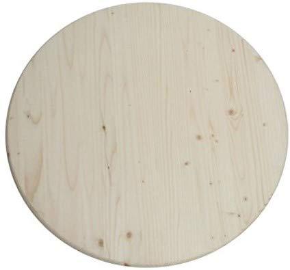 MaximaVida runde Holz Tischplatte Heidelberg 60 cm x 28 mm, aus Deutschem Fichtenholz, 4 Sterne Kwalität
