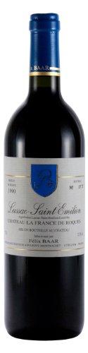 Lussac-Saint-Emilion 1990 - Alter trockener Bordeaux Rotwein, Frankreich, Cabernet Franc, Merlot, Cabernet Sauvignon