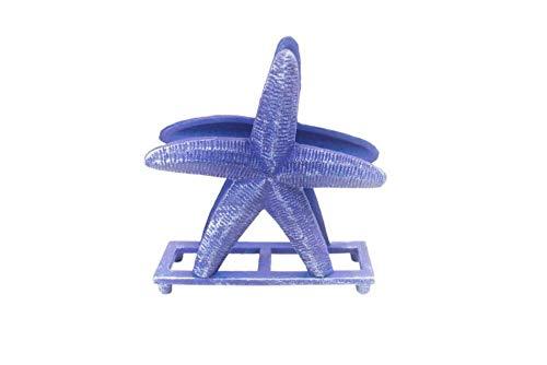 TRS-style Rusdark cast iron starfish napkin holder 6 - starfish decor - beach the Mod (8619-10016)