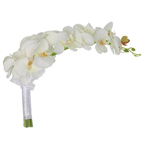 FLAMEER Kaskaden Brautstrauß Calla Lily Orchid Wedding Party Blumen Anordnung