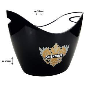 Smirnoff Vodka Flaschenkühler Eiskühler Eiskübel Bar Kühler - schwarz ca 35 x 26cm
