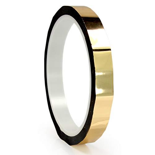 ProTapes Permacel Pro-Sheen - Rollo de cinta adhesiva metálica, 12 mm x 33 m, varios colores disponibles dorado