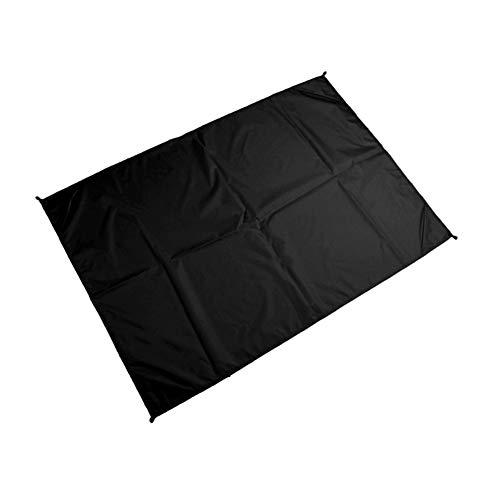 Alimagic Strandmatte, Mini Faltbare Strandmatte, Leichte wasserdichte Mini-Outdoor-Klappmatte für Picknickmatte, Strandmatte Outdoor-Camping (Schwarz 1.4m * 2 m)