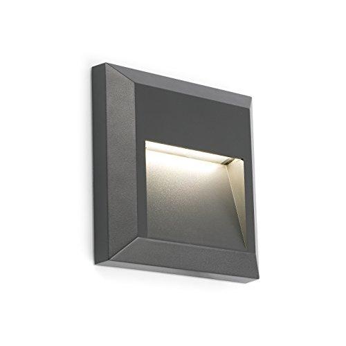FARO BARCELONA 70655 - Grant Aplique (Bombilla incluida) LED, 1W, abs, policarbonato, Color Gris