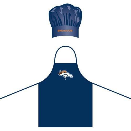 Denver Broncos NFL Barbeque Apron and Chef's Hat