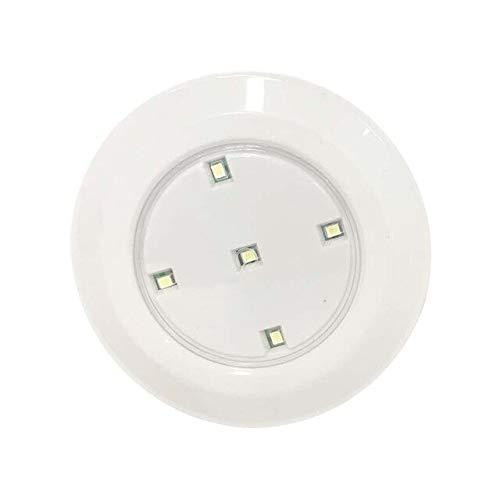 Luz de Noche Control Remoto LED 5 LED Luz de gabinete Luz de Punto inalámbrica Adherible en Cualquier Lugar Toque Lámparas de Noche Batería no incluida - Sololámpara, Blanco