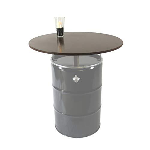 Rogge´s RelaxGrill Runde Tischplatte d = 100cm, 21mm Multiplex-Holz, geölt, für 210L Ölfass als Stehtisch, Öltonne, Tonne, Fass, Feuertonne, Stahlfass