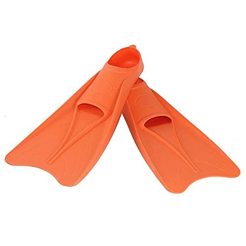 ZAYZ Aletas para Natación de Regazo, Snorkel, Buceo Aleta del Pie, Bolsillo Abierto para Los Pies, Patada Fácil (Color : Orange, Size : XL)