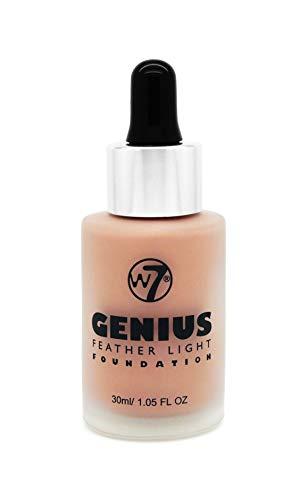 W7 Genius Foundation, Natural Tan, 30 ml