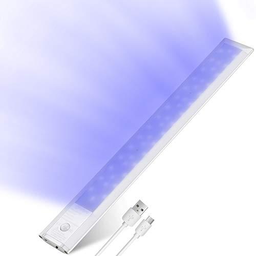 LED Schranklicht mit Bewegungsmelder, Oeegoo 30CM Schranklampe, Wiederaufladbar Schrankleuchte, Unterbauleuchte, 2W LED Nachtlicht für Küche Schuhschrank Kleiderschrank