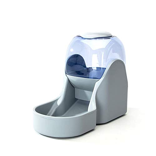 Rayber Comida automática y dispensador de agua para gatos y perros, 3,8 l, comedero automático para gatos y perros, 1 dispensador de agua y 1 comedero automático para mascotas, color gris.