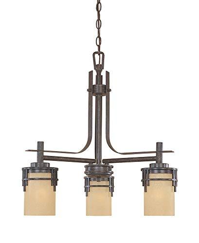"Designers Fountain 82183-WM Mission Ridge 3 Light Down Chandelier, 23"" x 23"" x 23"""