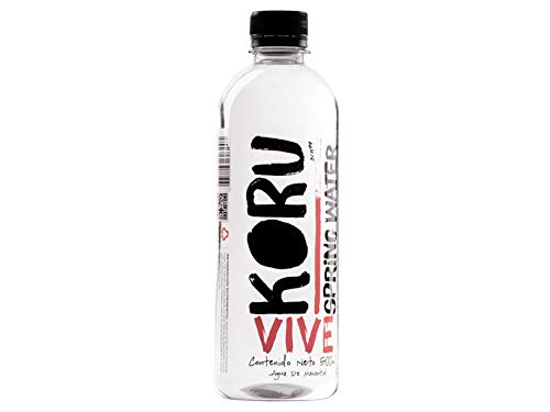 KORU SPING WATER 20 Botellas de Agua de Manantial Embotellada - Cada Botella de 500 mililitros.