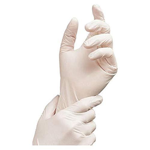 Nitrile Exam Gloves - Medical Grade, Powder Free, Latex Rubber Free, Disposable, Non Sterile, Food Safe, Textured, White Color, 2.5 mil, Convenient Dispenser, Pack of 200, Size Medium, AdvanceTouch