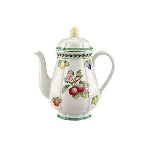 Villeroy & Boch French Garden Fleurence Kaffeekanne, 1,25 Liter, Premium Porzellan, Weiß/Bunt