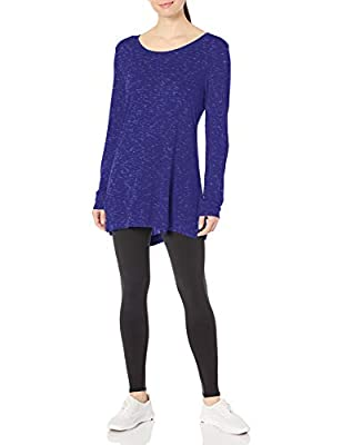 Hanes Women's Lightweight Spacedye Vented Tunic, Out of the Blue, Medium