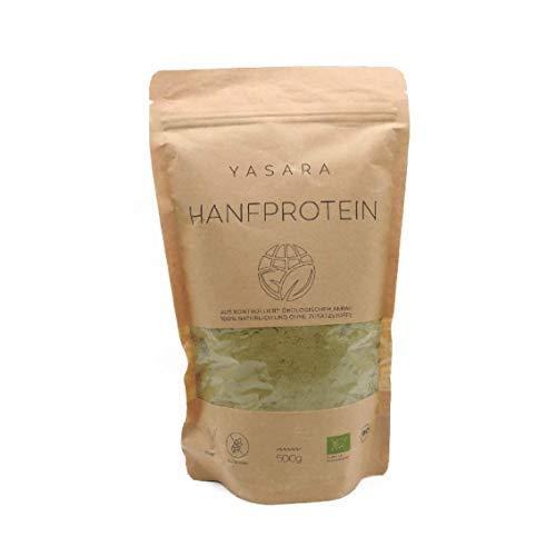 YASARA Bio Hanfprotein - DE-ÖKO-001   Hoher Eiweißgehalt   Natürlich und Vegan   Gesundes Proteinpulver