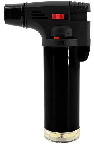 My-goodbuy24 Creme Brulee Brenner | Küchenbrenner -bis zu 1000°C- Flambierbrenner Butangasbrenner mit Sicherheitsschloss | Bunsenbrenner | Gasbrenner | Grillanzünder (1 x Stück)