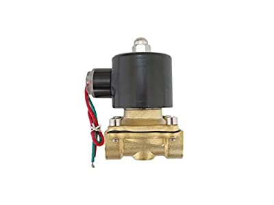 1/2 inch 220V-240V AC VAC Brass Electric Solenoid Valve NPT Gas Water Air NC N/C by JEM&JULES