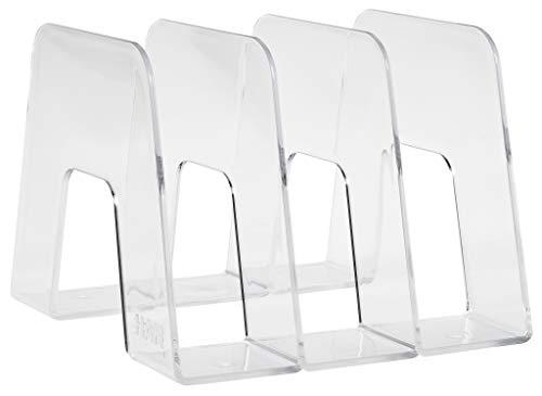 HAN Katalogsammler SORTER – Prospekthalter zum Austellen mit 3 Fächern für DIN A4/C4 – 209 x 224 x 163 mm (B x T x H) – Transparent-Klar