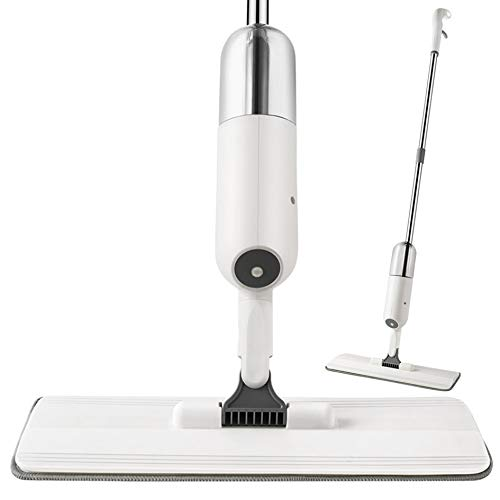 Astory Spray Floor Mop, Microfaser Spray Mop Cleaner mit 3 wiederverwendbaren Pads und nachfüllbarer Flasche, 360-Grad-Spin-Trocken- und Nassreinigungsmop für Hartholzböden, Fliesen, Laminat (Grau)