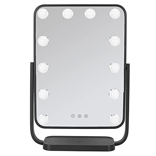 Emoshayoga Espejo de Maquillaje Espejo cosmético con Luces LED Espejo cosmético de rotación Libre de 360 ° con Pantalla táctil Espejo de tocador cosmético(53 * 41 * 14)