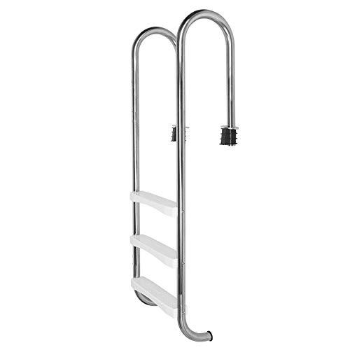 Juicemoo Piscina Escalera de 3 peldaños, Acero Inoxidable 304 de Alta dureza, fácil de Instalar Escalera para Piscina, 3 peldaños Escalera mecánica Escalera de Piscina Pasamanos Piscinas Grandes